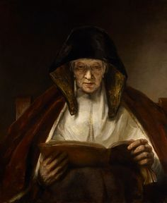 Rembrandt's An Old Woman Reading, 1655.