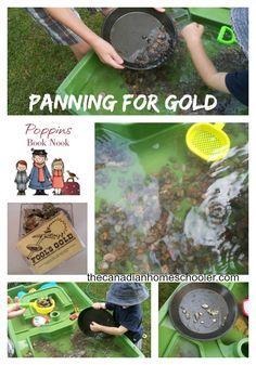 Panning for Gold in the wild west  #poppinsbooknook  #storybookactivities  #onlinebookclubforkids