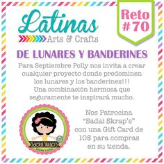 Latinas Arts and Crafts: Reto 70 - Lunares y Banderines