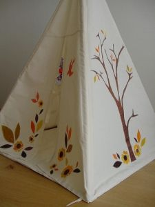 Children's teepee tent - I love this