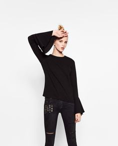 ZARA - SALE - RIBBED FRILLED SWEATER