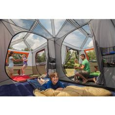 "10-12 Person Best Camping Hiking Fishing Outdoor Waterproof Tent with Floor Only 10 In Stock Order Today! Product Description: The Ozark Trail 12-person instant cabin tent sets up in under two minutes! This 12-person tent requires no assembly because the poles are pre-attached to the tent, just unfold and extend. This three-room, cabin-style tent has large windows on all sides and room to stand up with a huge 6'10"" center height. It features a large front awning for relaxing under the shade…"