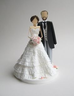 paper cake toppers  love this! :)