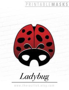 Ladybug Printable Insect Mask, Ladybird, Red # #ladybugprintable #insectmask #ladybird #redbeetle #printablecostume #proptheaterplay #photobooth #birthdayparty #halloween #wedding #ladybug #ladybird #beetlemask Printable Halloween Masks, Printable Masks, Printables, Last Minute Costumes, Easy Costumes, Red Beetle, Paper Mask, Animal Masks, Cute Creatures