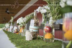 Rustic Jar Centerpieces With Daisies Farm Wedding, Rustic Wedding, Nashville Photographers, Bouquet Toss, Jar Centerpieces, Wedding Decorations, Table Decorations, Spring Wedding, Wedding Pictures