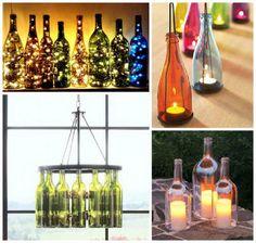 Las #botellas de vino, son un excelente decorativo para tu hogar.