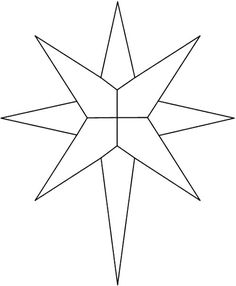 Star of Bethlehem Religious Christmas coloring page religious