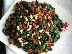 Spicy Black Bean Spinach Salad from http://www.food.com/recipe/spicy-black-bean-spinach-salad-283011