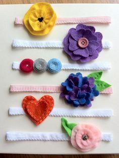 baby headbands love the three rosettes