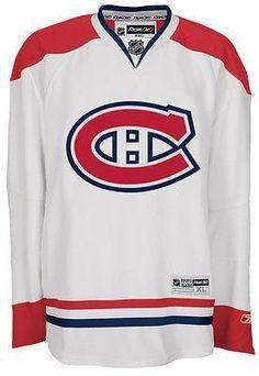62b734a18 Montreal Canadiens Reebok 7185 Premier AWAY White Jersey. Montreal  Canadiens white Customized Your Name Number