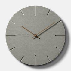 콘크리트스타일 무소음 모던 벽시계1 // 30,000 // 무관 // 나이 무관 // 건축, 콘크리트덕후, 깔끔, 시크 // 콘크리트의 시크함을 좋아하는 사람에게 맞는 시계