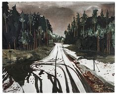 Mamma Andersson. Dead end. 2010. Acrylic and oil on panel.