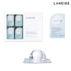 LANEIGE White Plus Renew Capsule Sleeping Pack 3ml x 16 Korean Cosmetics #LANEIGE #sleepingpack #koreanbeauty #kbeauty #koreancosmetics #amorepacific #renewcapsule
