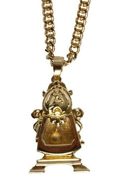 Disney Couture Kidada Beauty & the Beast Cogsworth Pendant Necklace: Clothing