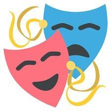 comedy and tragedy masks free clip art taller de teatro campo de rh pinterest com theater masks clipart theatre masks clip art free