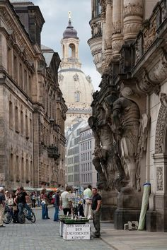 Dresden, Germany. Dresden is the capital city of the Free State of Saxony. It is situated in a valley on the River Elbe, near the Czech border.