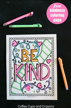 Make doing acts of kindness fun for kids! Use this free printable kindness coloring page to teach kids that doing good is cool. Kindness For Kids, Teaching Kindness, Kindness Activities, Kindness Ideas, Bible Activities, Kindness Projects, Kindness Challenge, Sunday School Crafts, Character Education