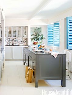 #Kitchen of the Month, March 2014. Design: Incorporated Architecture & Design. Gorgeous colour palette!