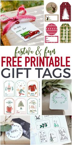 Fun and festive Free Printable Gift Tags - perfect for dressing up those gifts for cheap! Diy Christmas Tags, Home Decor Christmas Gifts, Holiday Gift Tags, Christmas Ideas, Christmas Crafts, Christmas Stuff, Christmas Sketch, Frugal Christmas, Christmas Decorations