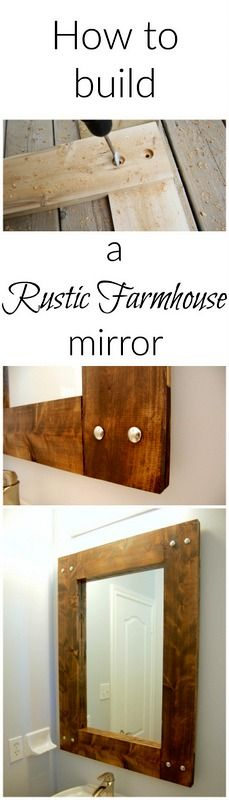 How to build your own rustic farmhouse mirror frame