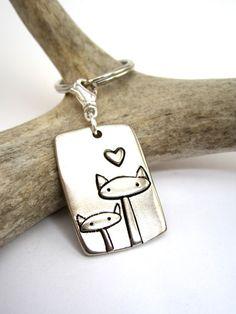 Cat Family Key Chain by marmarsuperstar on Etsy, $16.00