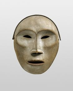 Yup'ik Face Mask  late 19th century  Alaska  Wood, pigment  Collected in late 19th century by Bishop Farhout, MacKenzie River area