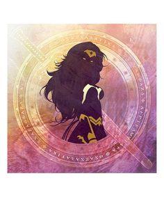 Wonder Woman Sword & Shield Wrapped Canvas #zulily #zulilyfinds