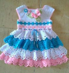This Pin was discovered by PhyOne of the most popular categories where you can find a lot of free baby crochet patterns.Crochet Cotton Baby Dress Hat pink and white by GoingCrafty, Crochet Dress Girl, Crochet Baby Dress Pattern, Baby Girl Crochet, Crochet Baby Clothes, Baby Knitting Patterns, Crochet For Kids, Baby Patterns, Knit Crochet, Crochet Patterns