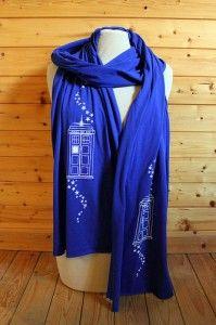 Tardis scarf by Binary Winter Press