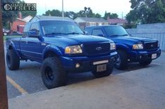 This 2009 Ford Ranger RWD is running Pro Comp Series 69 wheels Mickey Thompson Baja Mtz tires with Suspension Lift suspension. Ford Ranger Wheels, Custom Ford Ranger, Ford Ranger Lifted, 2009 Ford Ranger, Ford Ranger Truck, Ranger 4x4, Ford Pickup Trucks, Mini Trucks, New Trucks