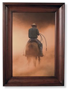 """I have this in my living room. Thanks to Miracle Farm.  """"Teo On the Ranch"""" by Robert Dawson"""