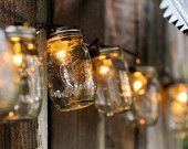 Mason Jar Strand with Light - Full Pint