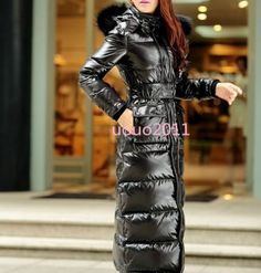 Full-Length-Womens-Fur-Hooded-Slim-Fit-Duck-Down-Coat-Winter-Warm-Outwear-Jacket
