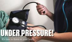 Blood pressure is one of the first concerns your doctor will bring up at your annual checkup. Why does blood pressure matter, and what does it have to do with your heart? Read more. Becoming A Better You, How To Become, Under Pressure, Blood Pressure, Listening To You, How To Better Yourself, Your Heart, Natural Health