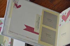 Meline e colori pastello per un Battesimo...l'album