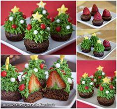 Eetbare kerstboompjes - toetje Kerst