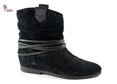 CAF NOIR FE624 chaussures noires Bottes femme 36 - Chaussures cafe noir (*Partner-Link)