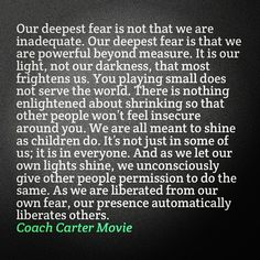 Coach Carter quote