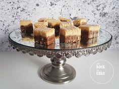 R E C E P T | Cheesecake bars met chewy bodem, karamel en witte chocolade. Een combi van een chewy koekje met het romige van cheesecake: simpel en goddelijk! Lees verder…
