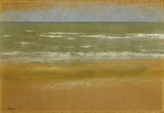 Beach at Low Tide pastel painting by Edgar Degas, 1869