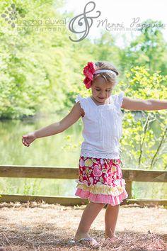 Izzy's Girls Double Ruffle Skirt Shirt PDF Pattern