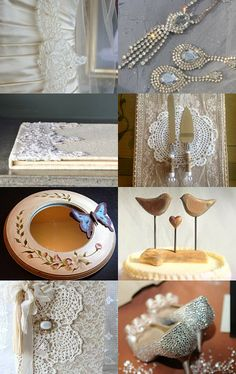 Romantic Wedding Accessories by Marilyn on Etsy--Pinned with TreasuryPin.com