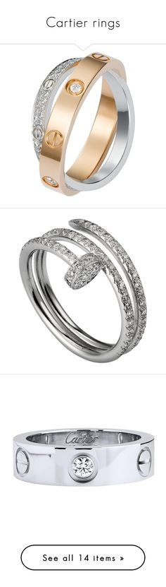 """Cartier rings"" by nawch ❤ liked on Polyvore featuring jewelry, rings, white gold diamond rings, white gold diamond bangle, white gold rings, diamond band ring, diamond bangles, white gold jewellery, white gold jewelry and diamond jewellery"