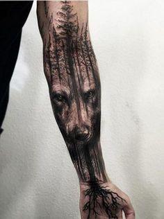 Wolf Tattoo Inspiration #tattoosmensarms