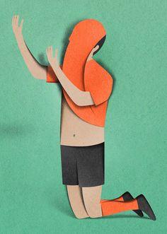 Eiko Ojala's Paper Cutting Art Eiko Ojala, Cut Paper Illustration, 3d Illustrations, Kunst Online, Paper Artwork, Paper Collages, Cardboard Art, Kirigami, Art Design