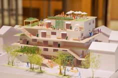 japan-architects.com: 10月 2014 Social Housing Architecture, Co Housing, Amazing Architecture, Art And Architecture, Maquette Architecture, Urban Agriculture, Arch Model, D House, Form Design