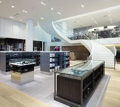 LEMAYMICHAUD   Design   Architecture   Interior Design   Simons   Display design   Commercial space   Lighting   Shopping   Clothes   Fashion   Architectural Stairs Sainte Foy, Design Commercial, Architecture, Vanity, Store, Places, Furniture, Shopping, Home Decor