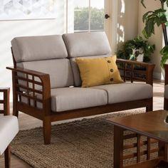 Wholesale Interiors Baxton Studio Armanno 2 Seater Living Room Loveseat