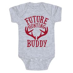 Future Hunting Buddy Cute Funny Baby Onesie