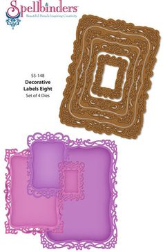 Grand Sentiments Clear Stamps coordinates with Spellbinders Resplendent Rectangles